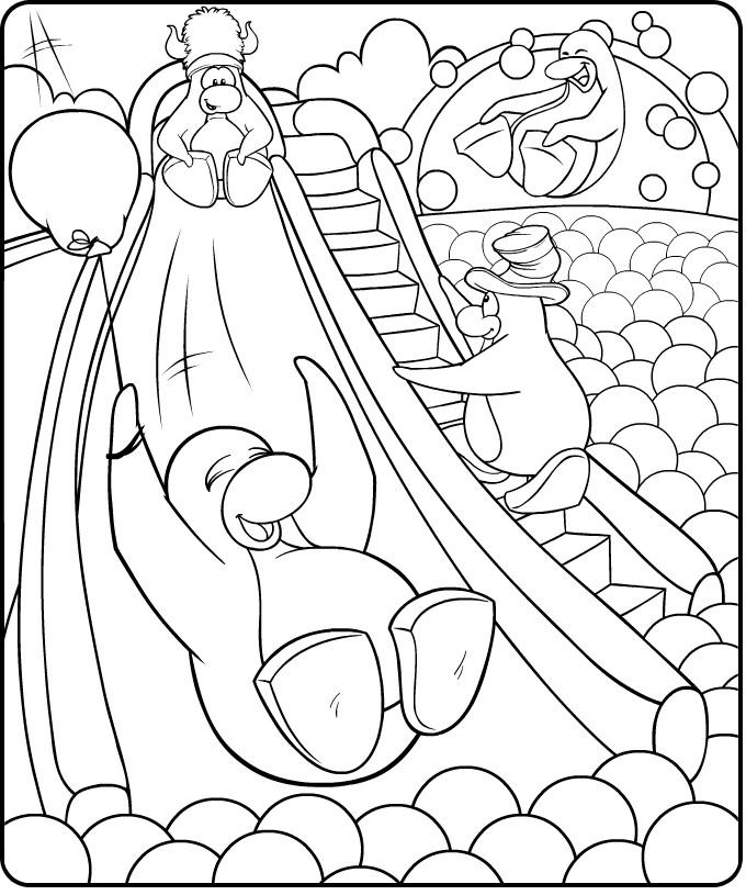 club penquin coloring pages - photo#23